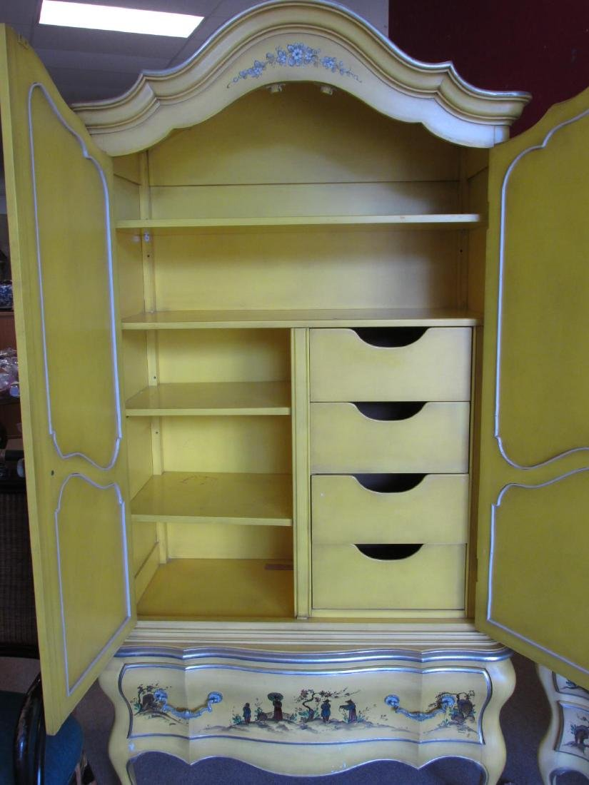UNION NATIONAL YELLOW CHINOISERIE STYLE BEDROOM SE - 8