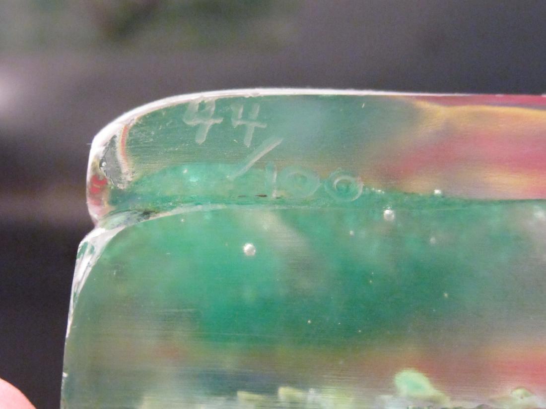TWO ITALIAN ARTIST SIGNED ART GLASS AQUARIUMS - 10
