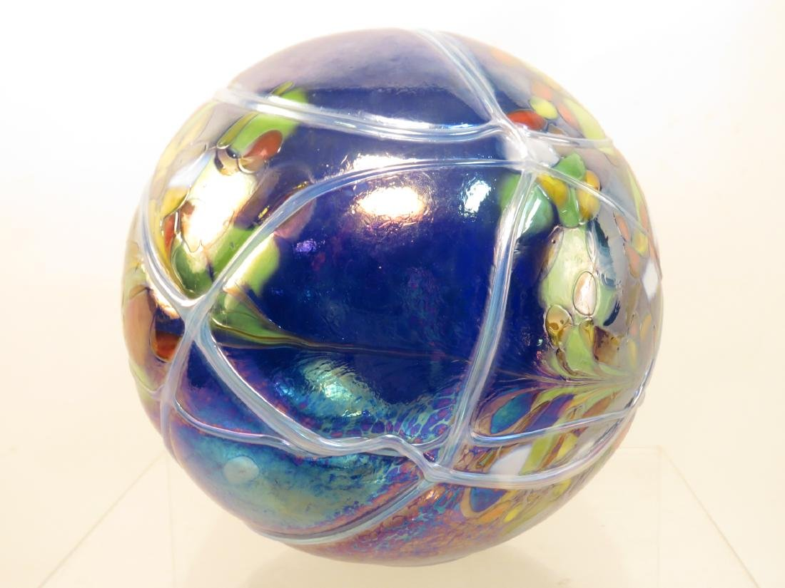 FOUR ART GLASS ORBS / SPHERES - 3