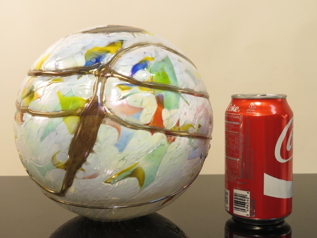 FOUR ART GLASS ORBS / SPHERES - 6