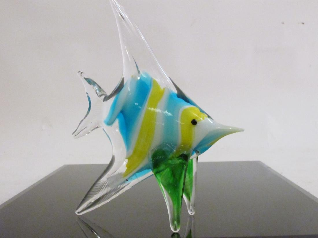 EIGHT ITALIAN MURANO ART GLASS FISH BY DANTE VENI - 3
