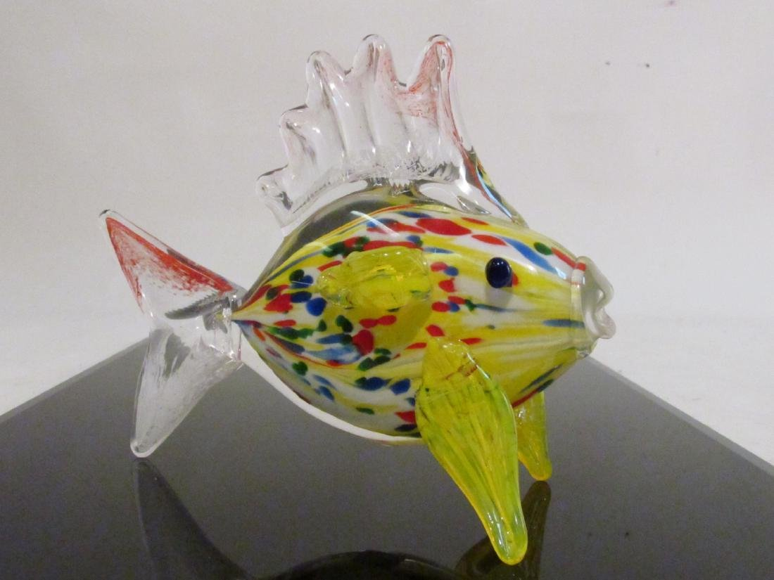 EIGHT ITALIAN MURANO ART GLASS FISH BY DANTE VENI - 5