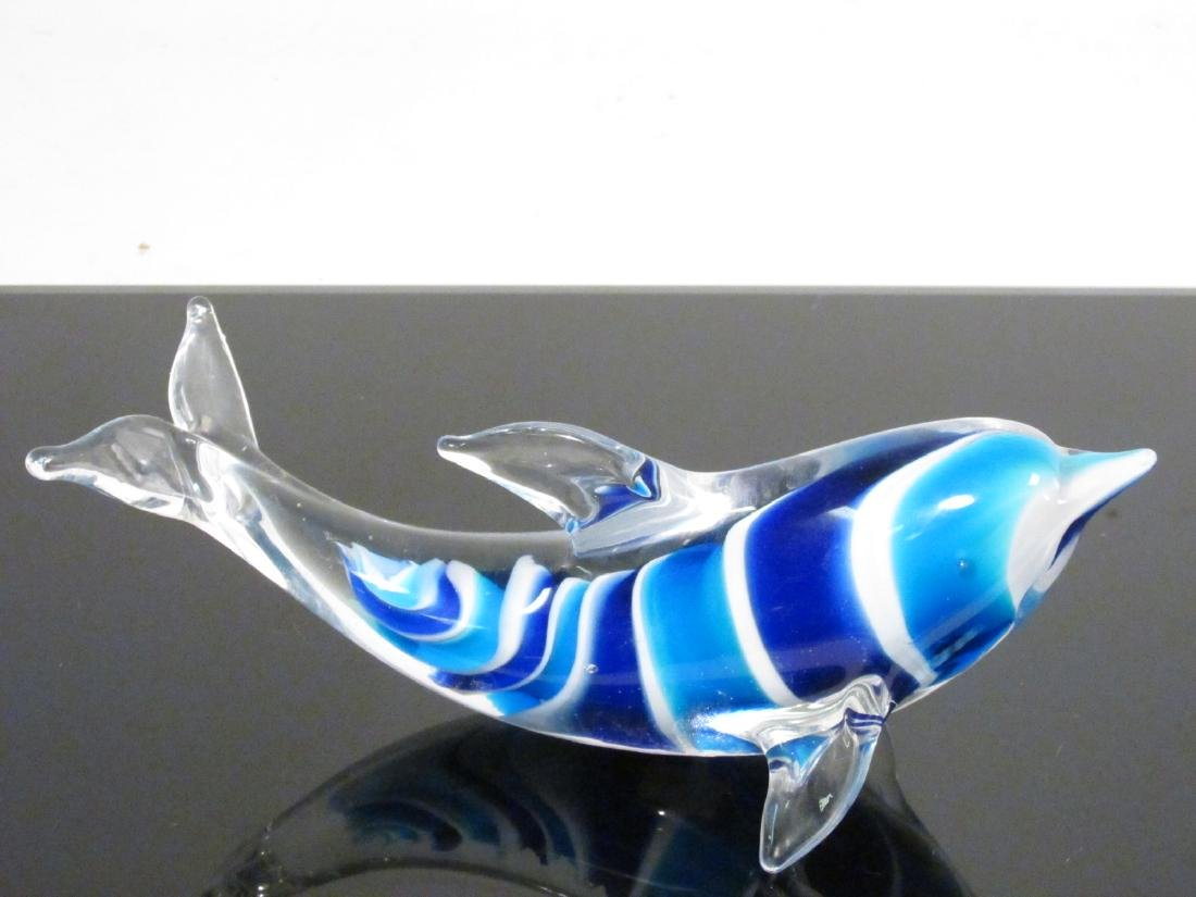 EIGHT ITALIAN MURANO ART GLASS FISH BY DANTE VENI - 6