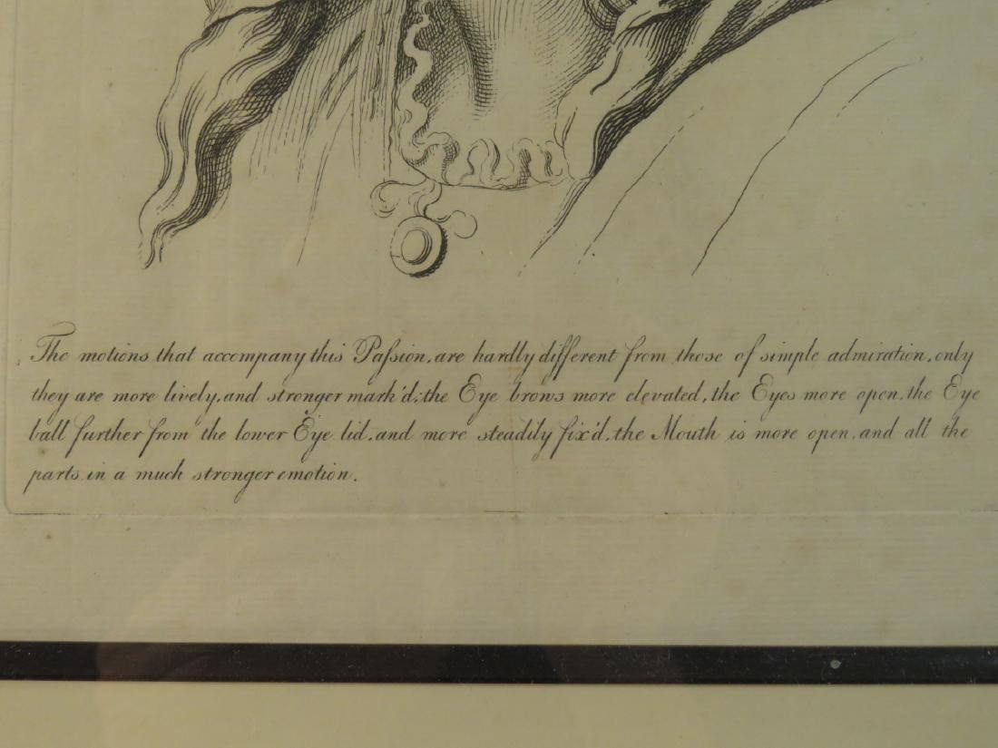 FOUR ETCHINGS AFTER LE BRUN PASSIONS OF THE SOUL - 10