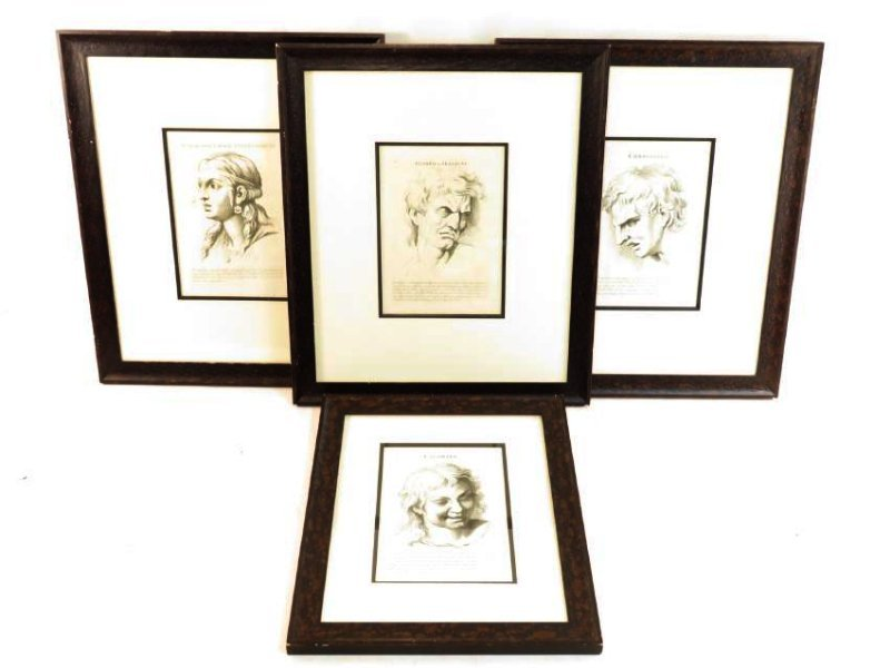 FOUR ETCHINGS AFTER LE BRUN PASSIONS OF THE SOUL