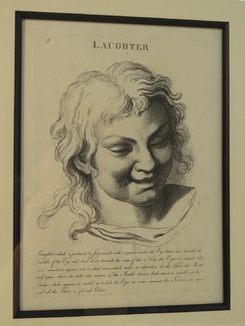 FOUR ETCHINGS AFTER LE BRUN PASSIONS OF THE SOUL - 4