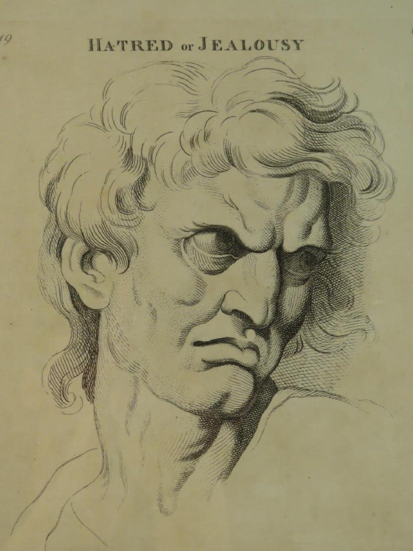FOUR ETCHINGS AFTER LE BRUN PASSIONS OF THE SOUL - 7