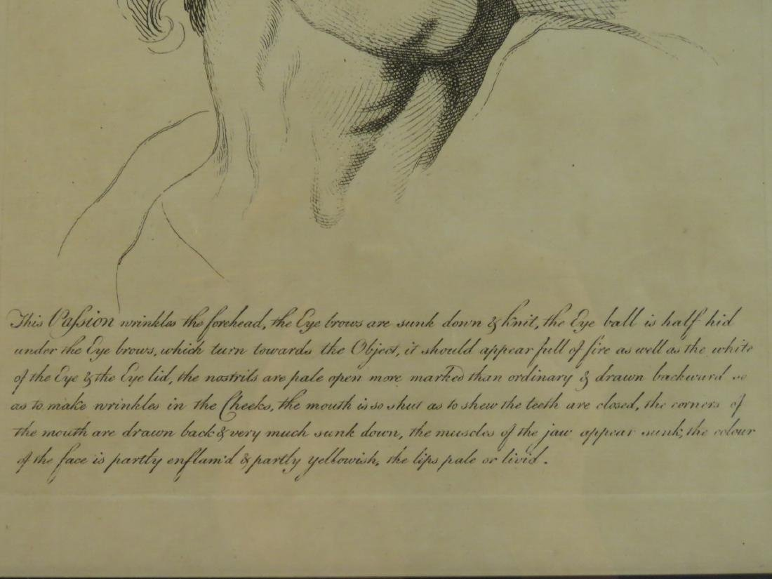 FOUR ETCHINGS AFTER LE BRUN PASSIONS OF THE SOUL - 8