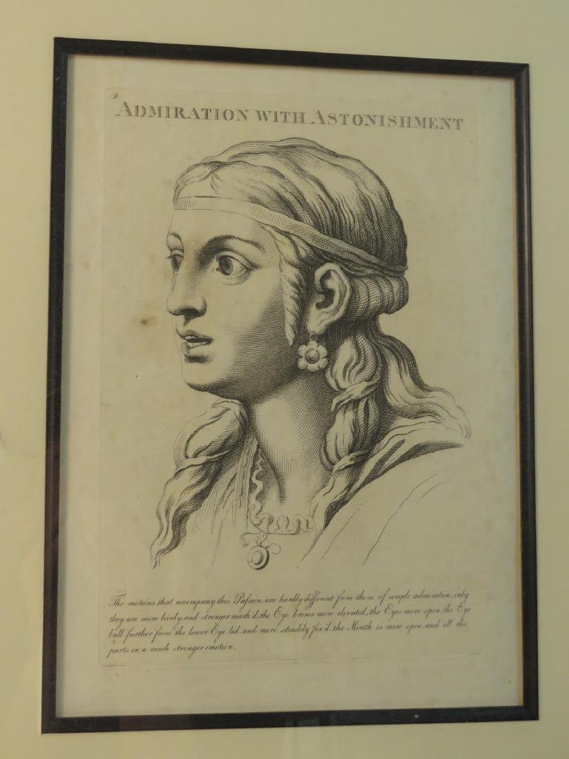 FOUR ETCHINGS AFTER LE BRUN PASSIONS OF THE SOUL - 9