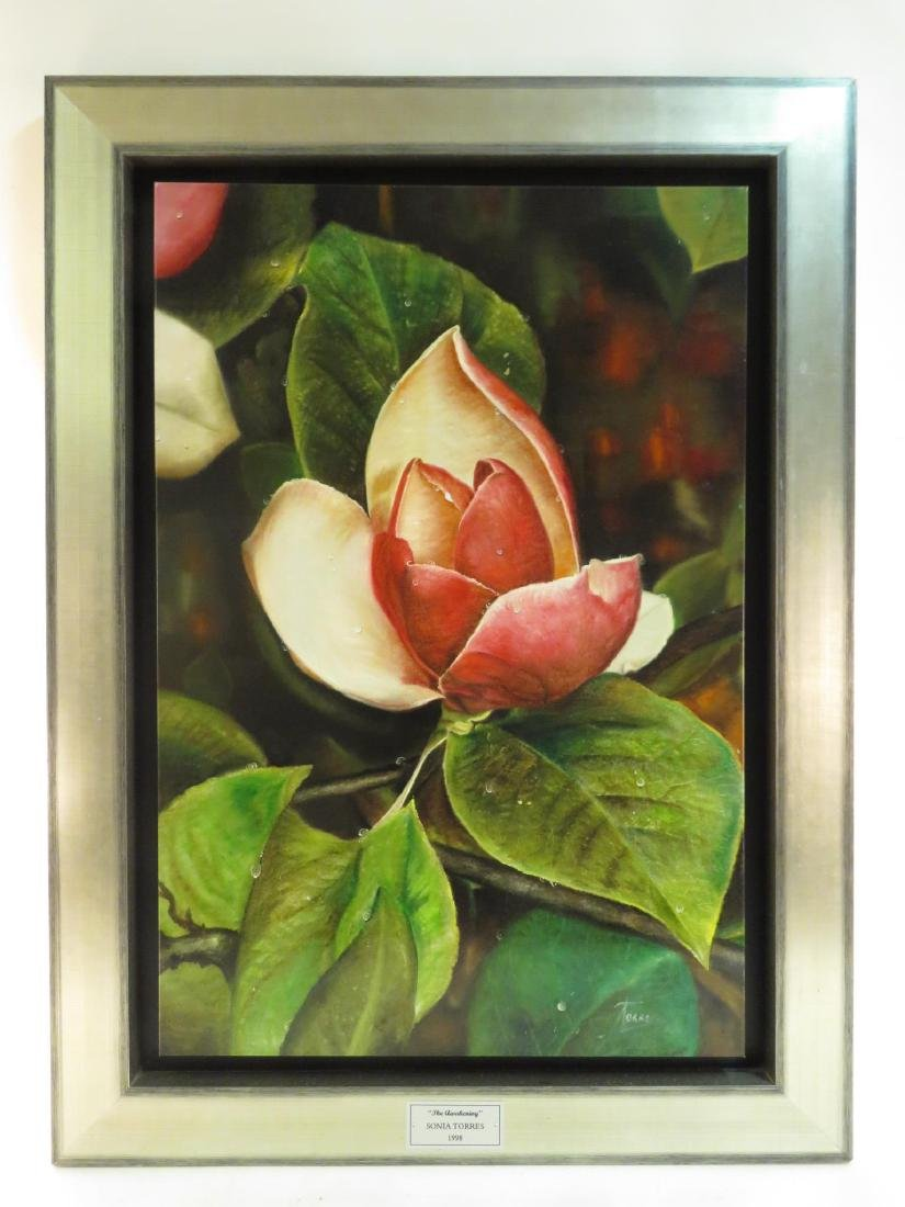 SONIA TORRES OIL ON CANVAS PAINTING: MAGNOLIA