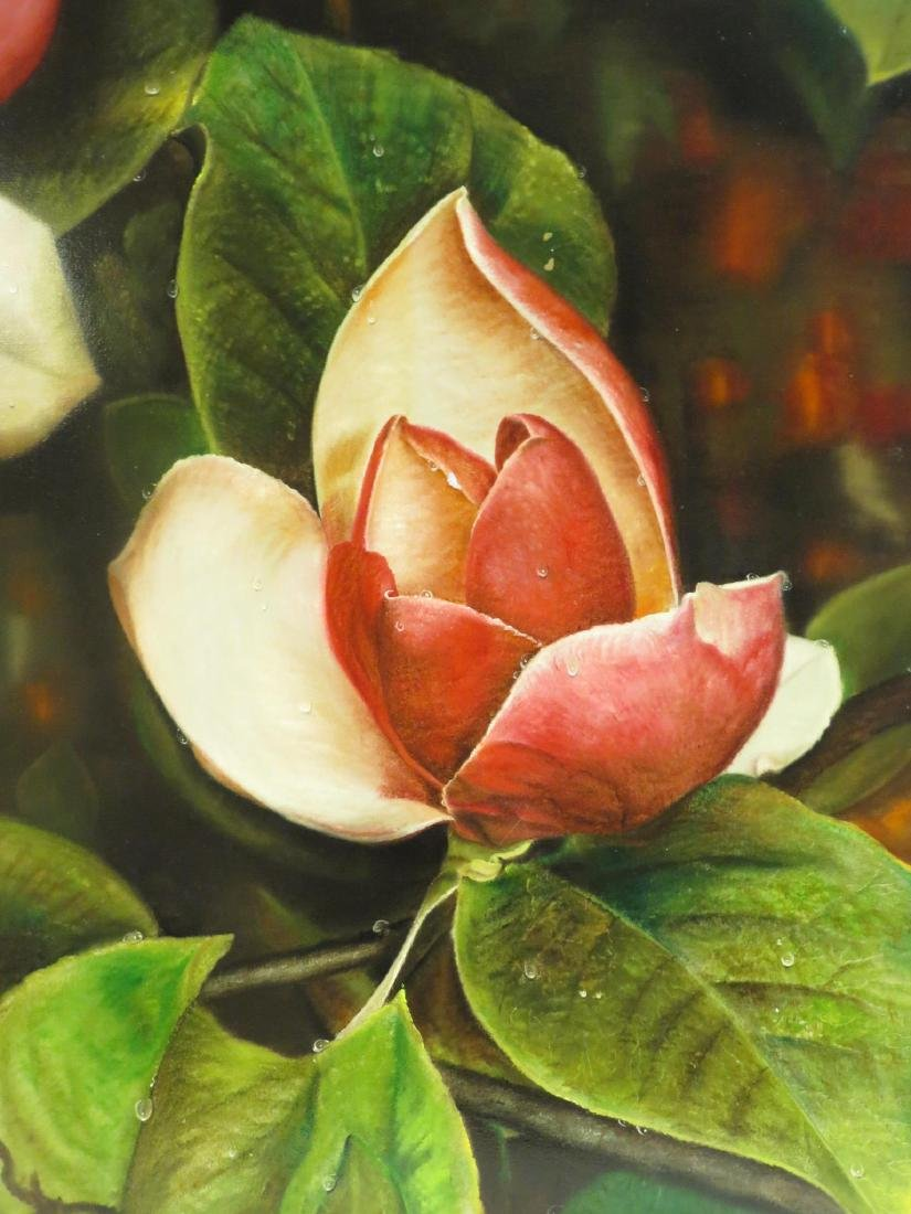 SONIA TORRES OIL ON CANVAS PAINTING: MAGNOLIA - 2