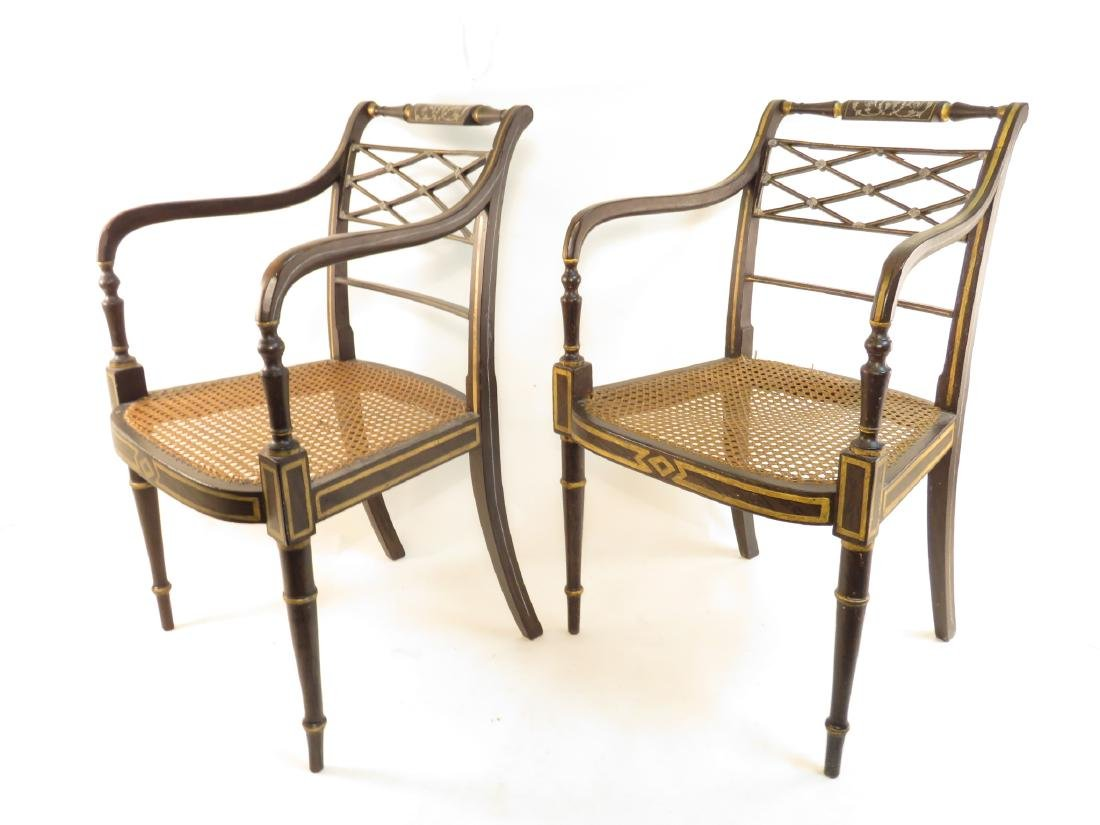 PAIR EARLY 20th CENTURY REGENCY STYLE CHAIRS