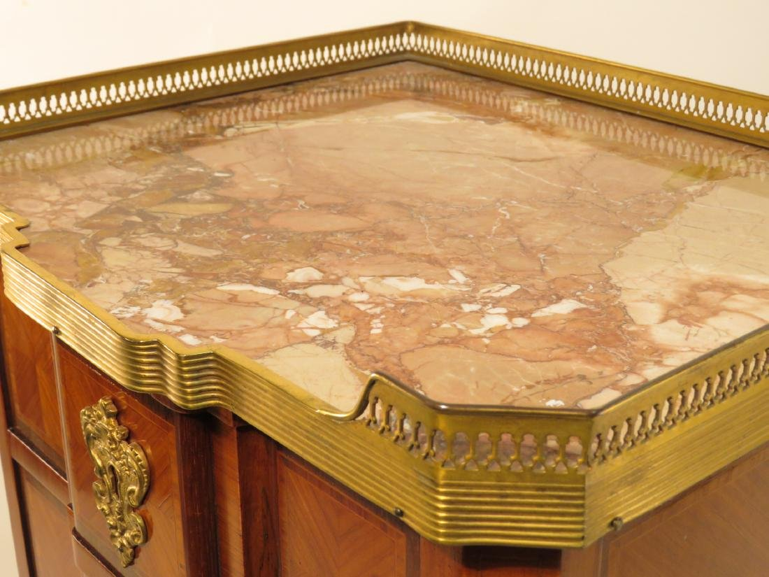 VICTORIAN LOUIS XVI STYLE PARQUETRY INLAID TABLE - 2