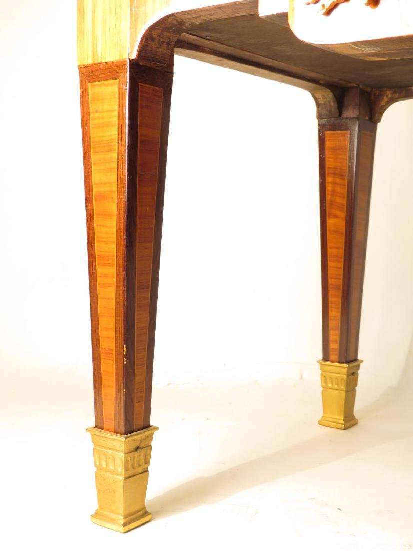 VICTORIAN LOUIS XVI STYLE PARQUETRY INLAID TABLE - 4