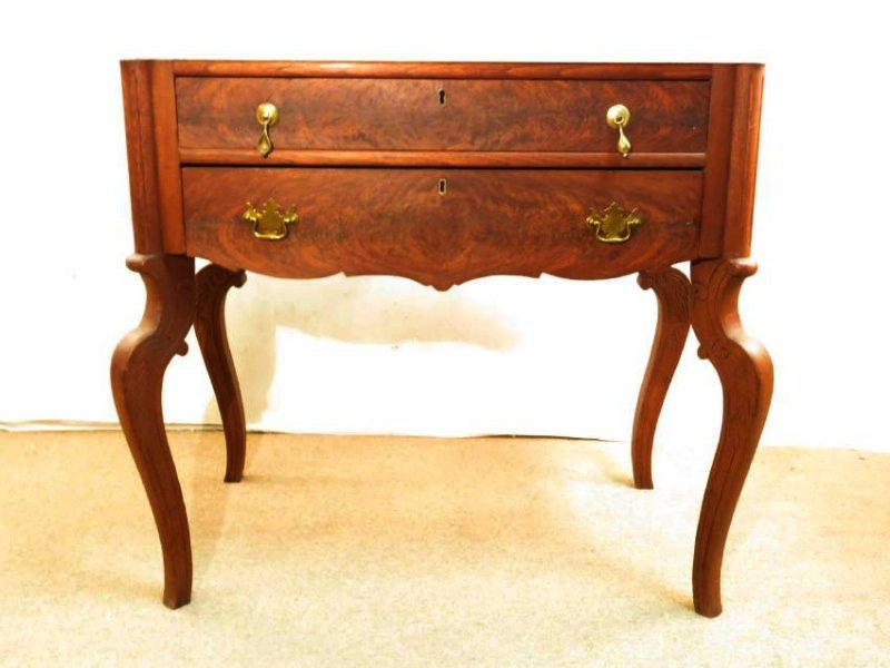 ANTIQUE EASTLAKE VICTORIAN MARBLE TOP CHEST ON LEG
