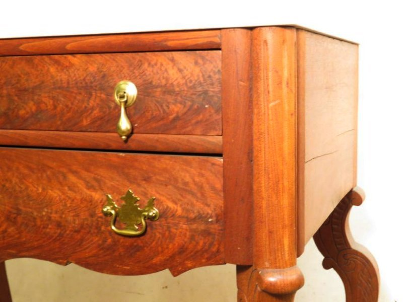 ANTIQUE EASTLAKE VICTORIAN MARBLE TOP CHEST ON LEG - 4