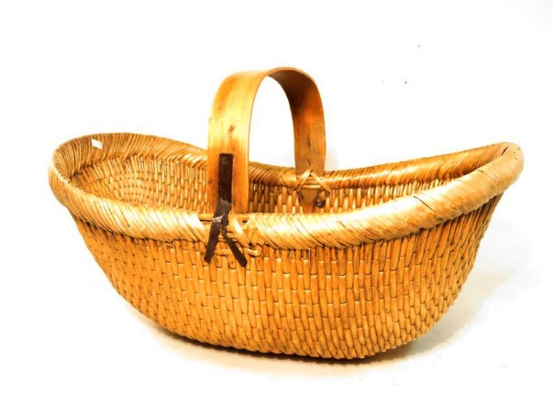 ANTIQUE WOVEN REED BASKET