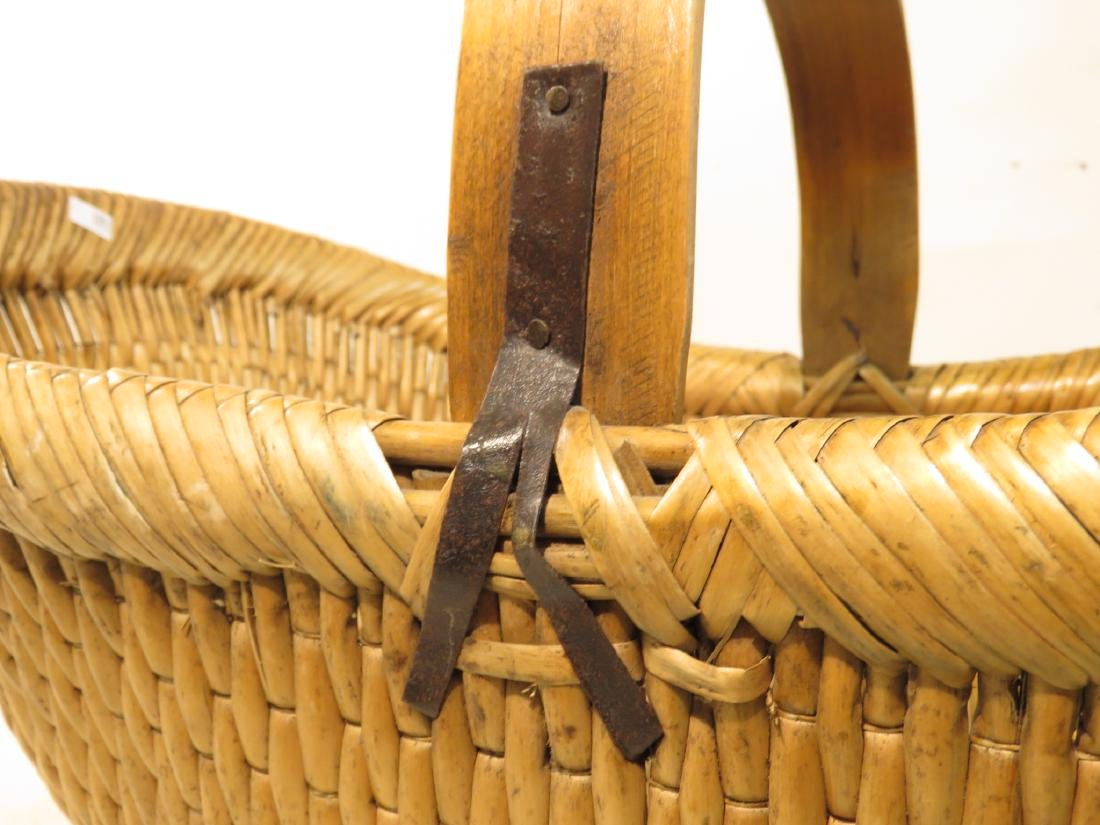 ANTIQUE WOVEN REED BASKET - 2