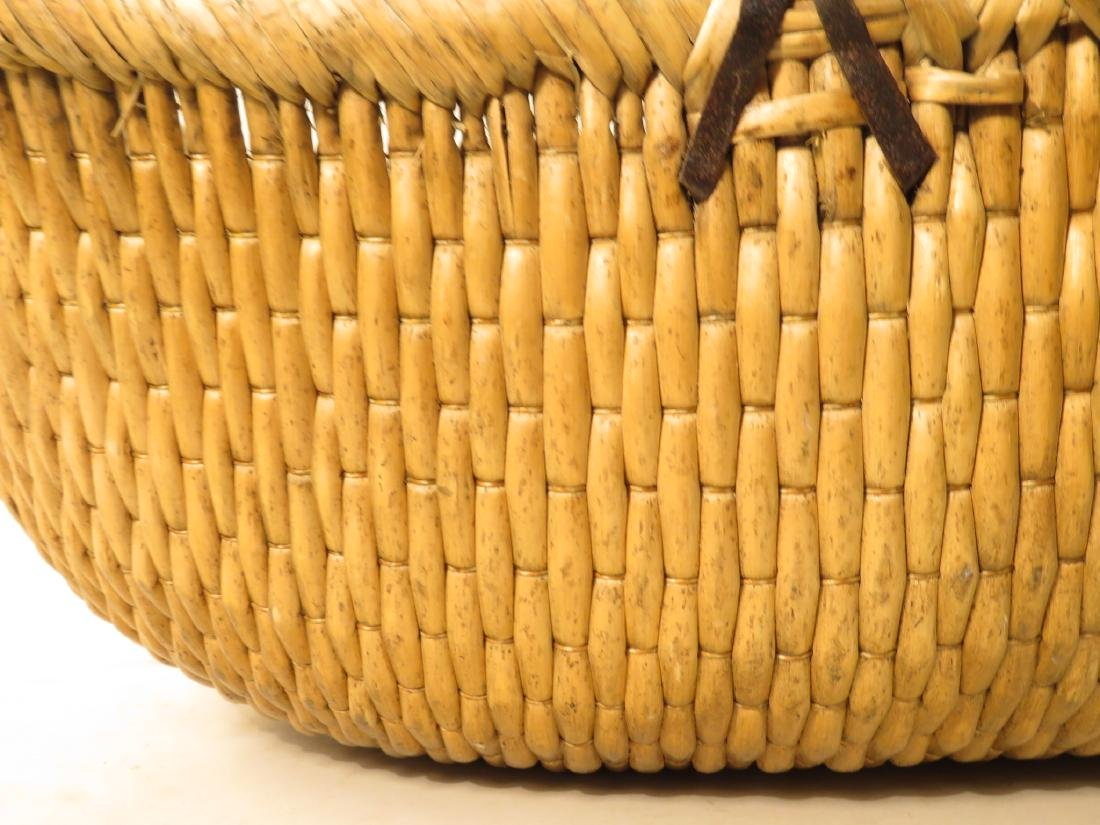 ANTIQUE WOVEN REED BASKET - 3