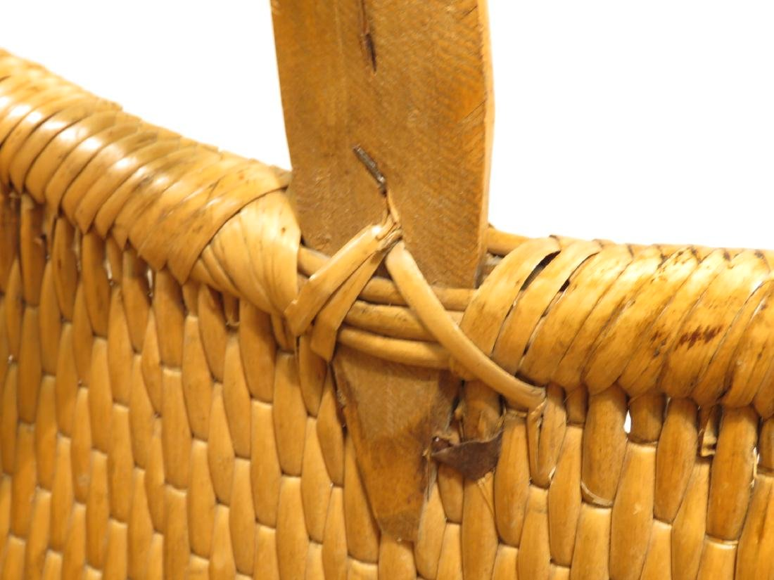 ANTIQUE WOVEN REED BASKET - 4