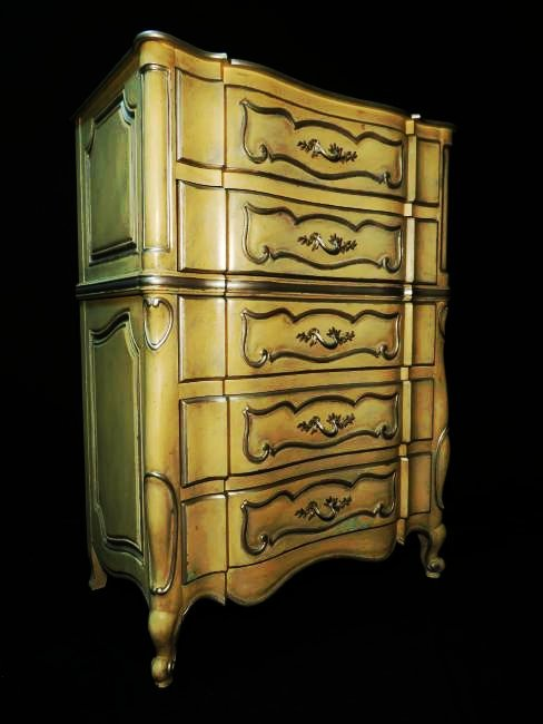 HAND PAINTED FRENCH STYLE CHEST OF DRAWERS