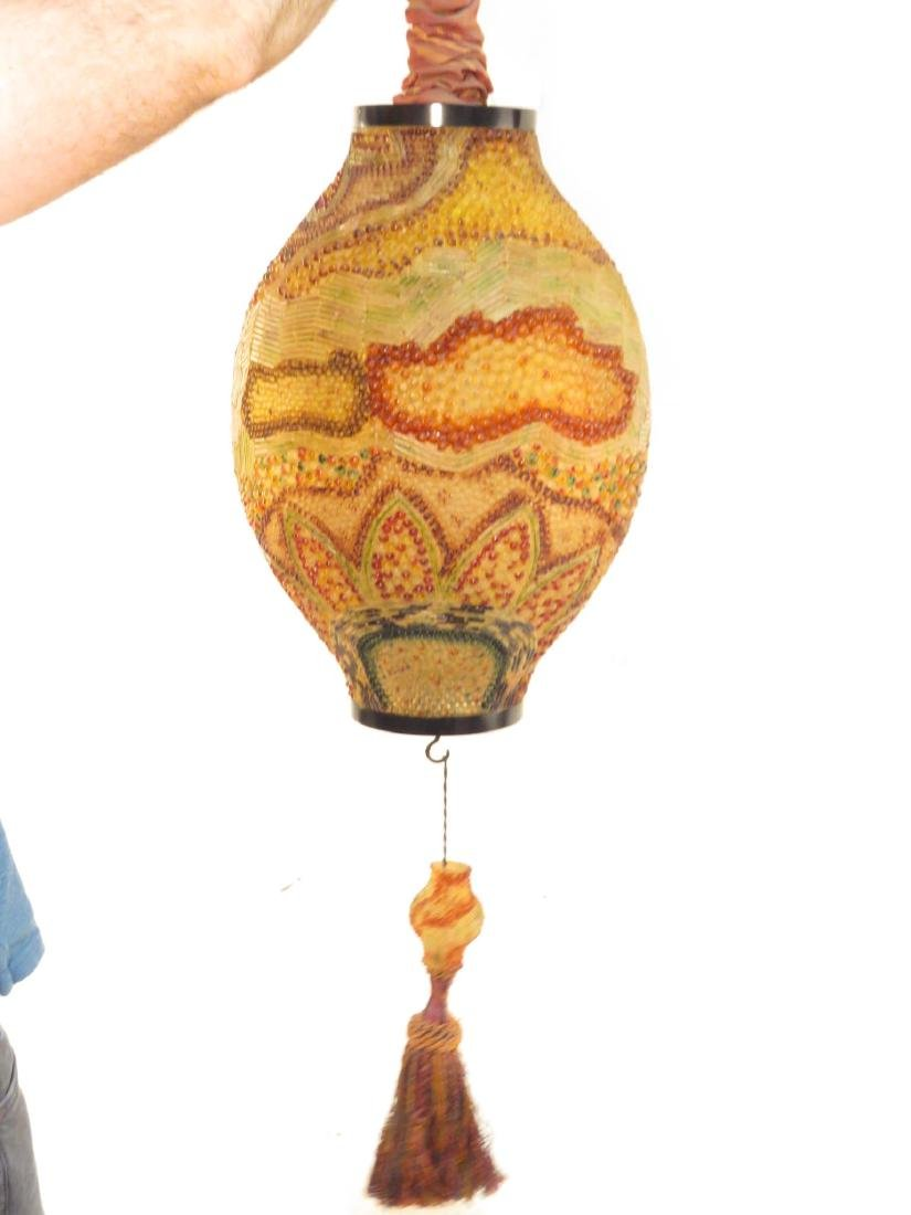 LARGE VINTAGE MOROCCAN STYLE HANGING PENDANT LIGHT