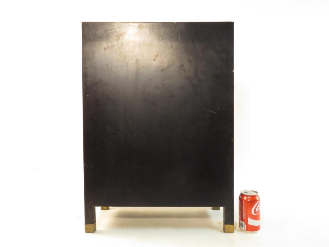 PAIR CHINESE STONE INLAID BLACK LACQUER CABINETS - 9