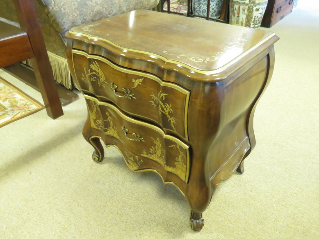 WHITE FURNITURE CO CHINOISERIE NIGHT STAND - 2