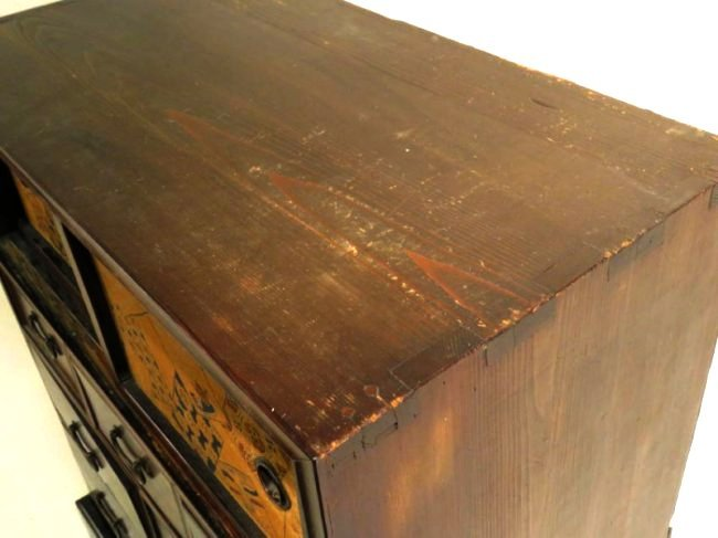 ANTIQUE JAPANESE ROSEWOOD TANSU CABINET CHEST OF DRAWER - 2