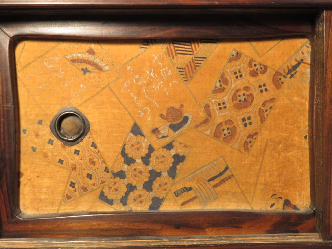 ANTIQUE JAPANESE ROSEWOOD TANSU CABINET CHEST OF DRAWER - 4