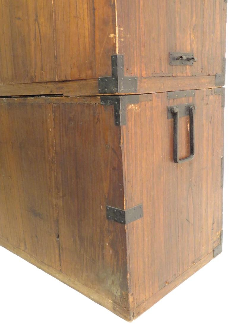 ANTIQUE KOREAN TANSU STYLE STACKING DOUBLE CHEST ON CHE - 10