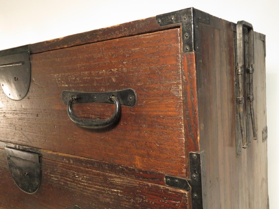 ANTIQUE KOREAN TANSU STYLE STACKING DOUBLE CHEST ON CHE - 3