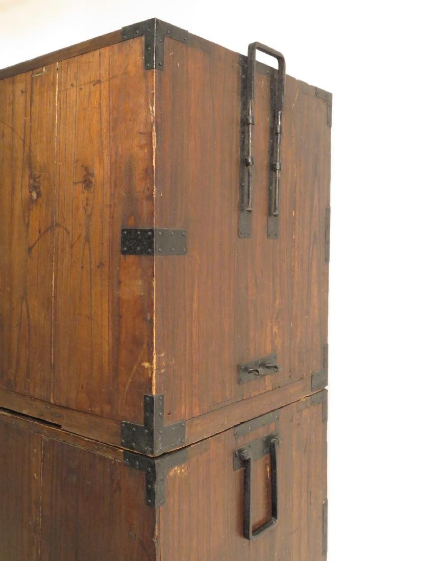 ANTIQUE KOREAN TANSU STYLE STACKING DOUBLE CHEST ON CHE - 9