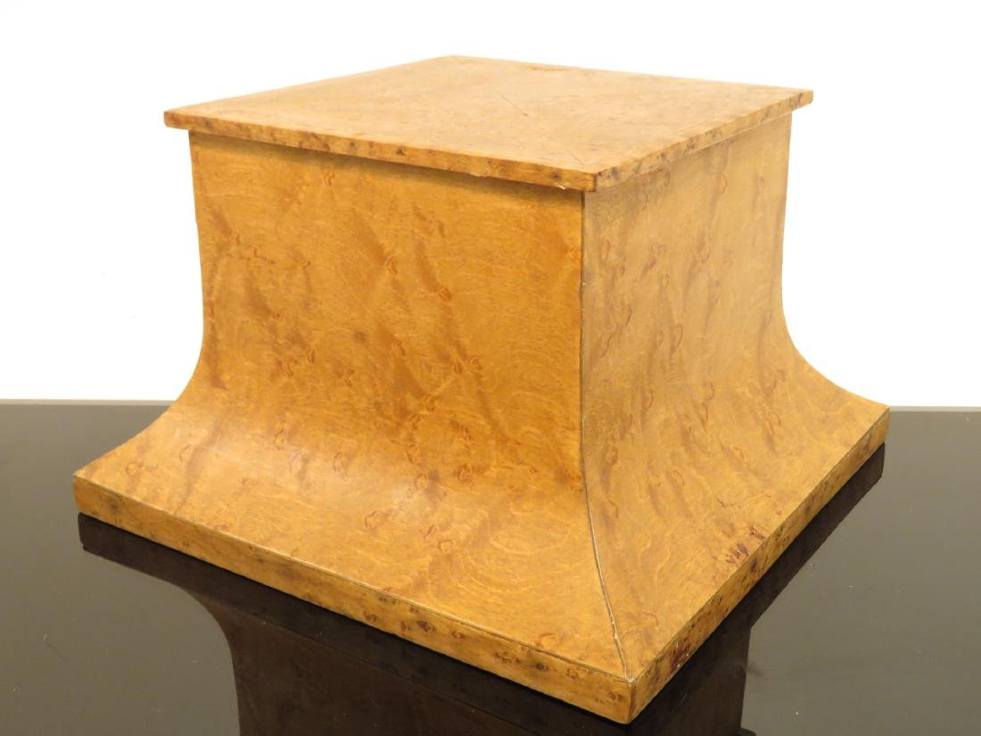THREE MARBLE/WOOD PLINTHS / STANDS / BASES - 4