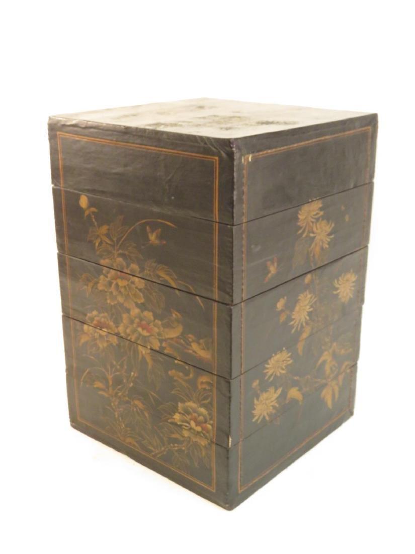 ANTIQUE JAPANESE JUBAKO TIERED BOX