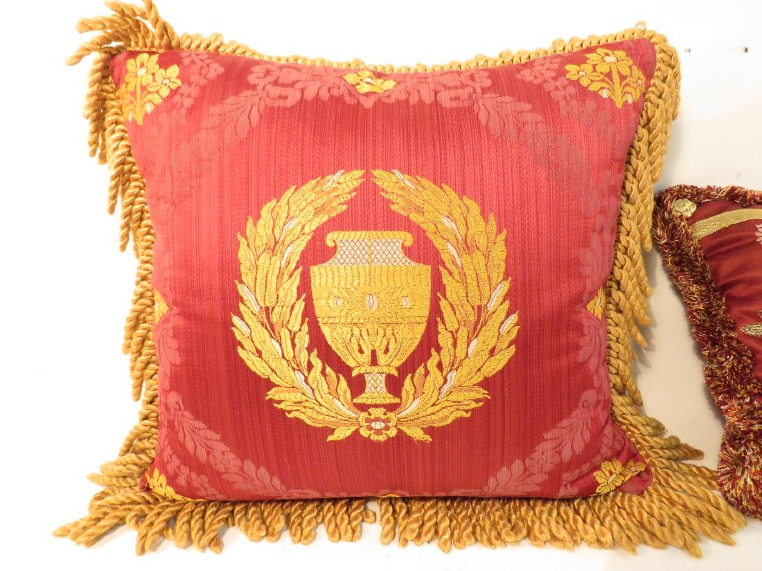 TWO DECORATIVE SILK THROW PILLOWS - 2