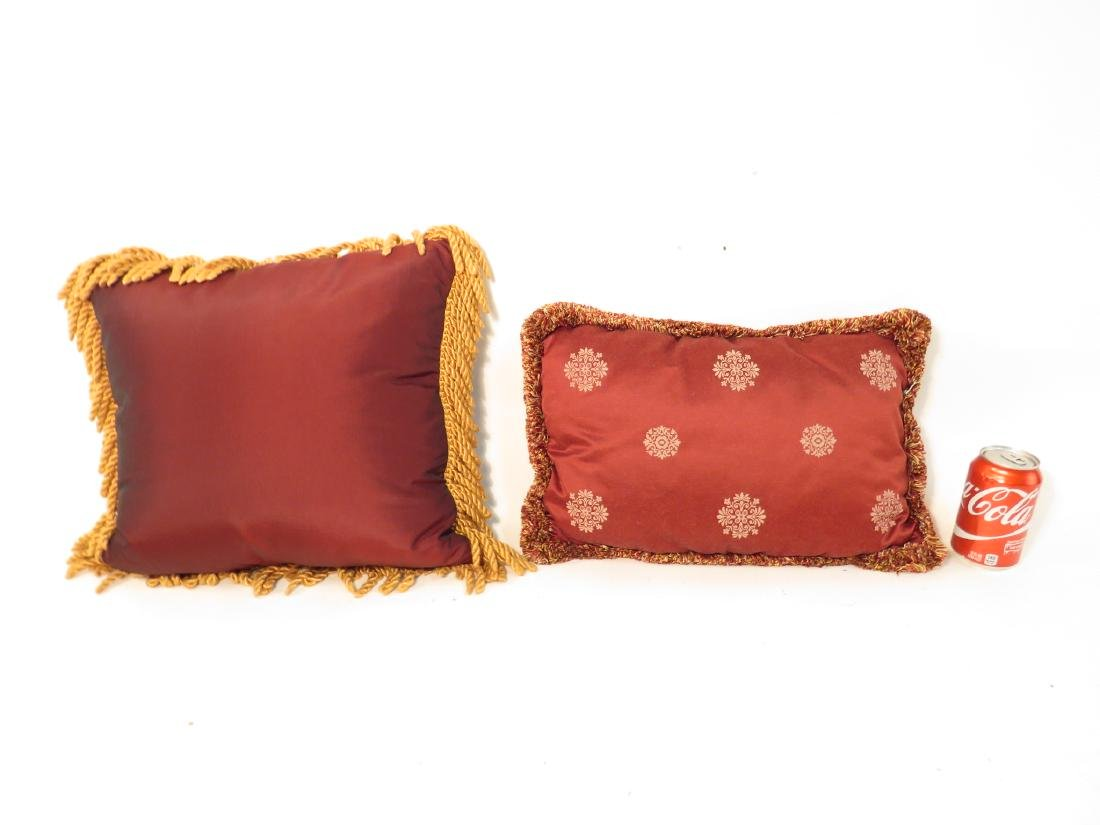 TWO DECORATIVE SILK THROW PILLOWS - 4
