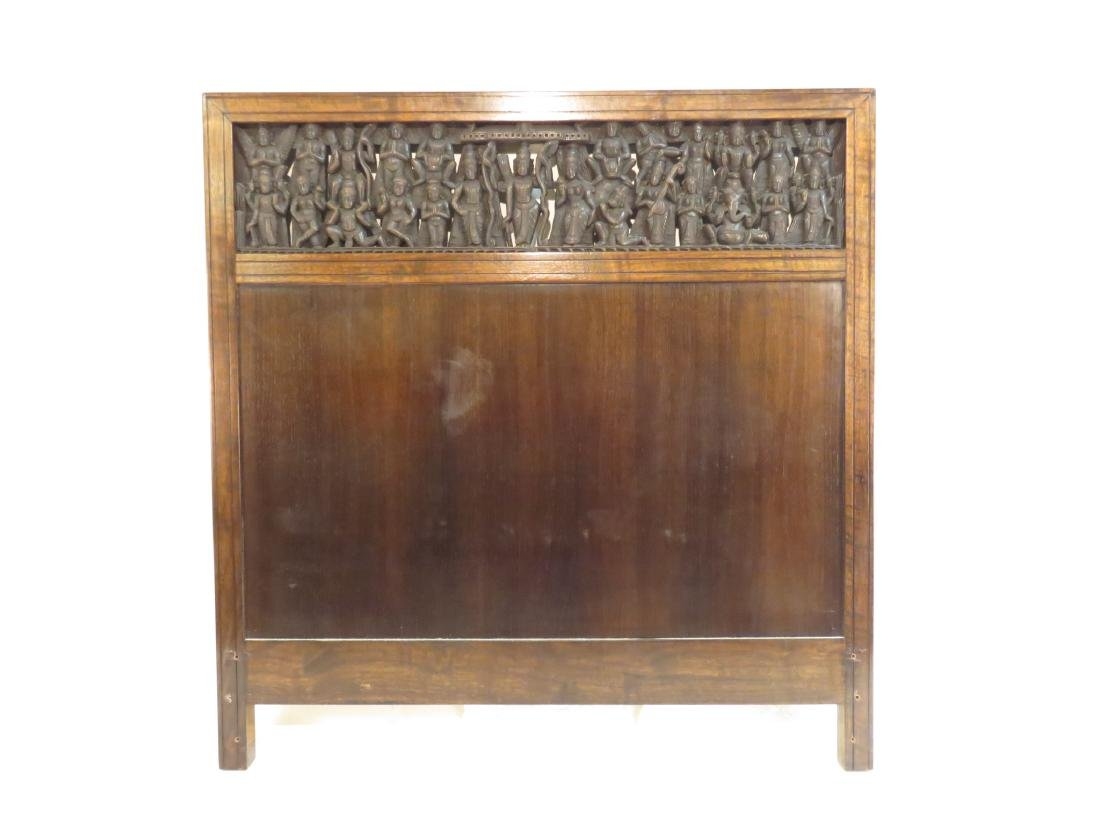 PAIR INDO-ASIAN CARVED HARDWOOD TWIN HEADBOARDS - 2