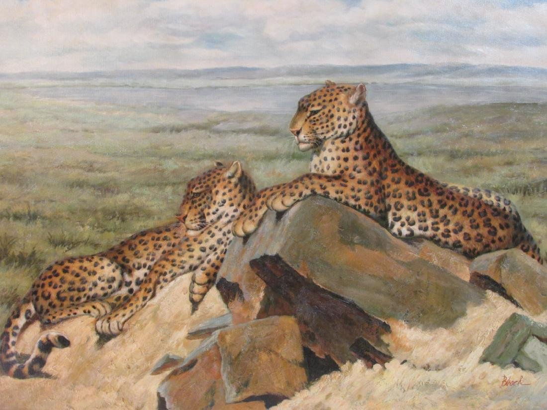 CONTEMPORARY ACRYLIC ON CANVAS PAINTING: JAGUARS