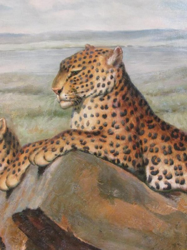 CONTEMPORARY ACRYLIC ON CANVAS PAINTING: JAGUARS - 2