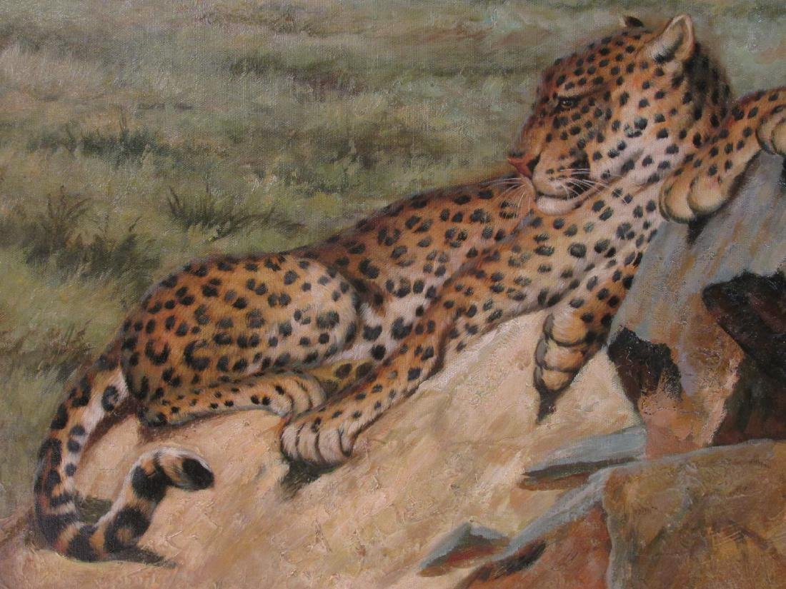 CONTEMPORARY ACRYLIC ON CANVAS PAINTING: JAGUARS - 3