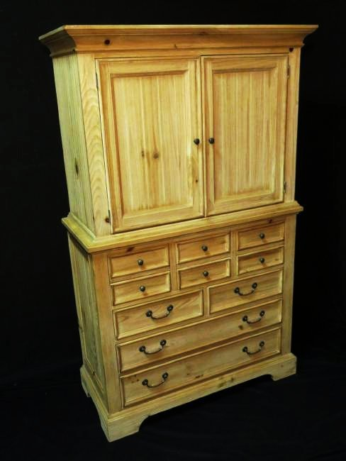 BROYHILL 2PC. WOOD ARMOIRE