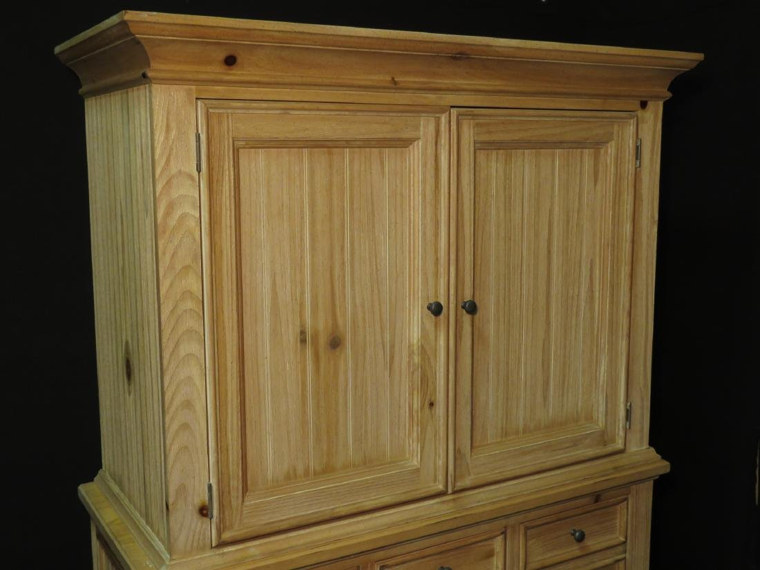 BROYHILL 2PC. WOOD ARMOIRE - 2