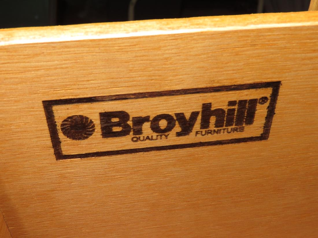 BROYHILL 2PC. WOOD ARMOIRE - 4