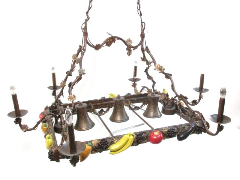 CONTEMPORARY HARVEST STYLE RECTANGULAR CHANDELIER