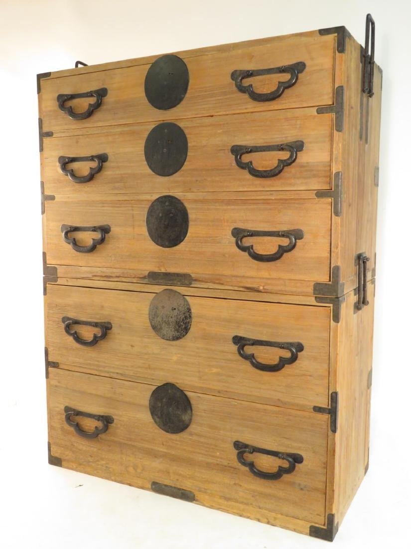 KOREAN TANSU STYLE STACKING DOUBLE CHEST ON CHEST