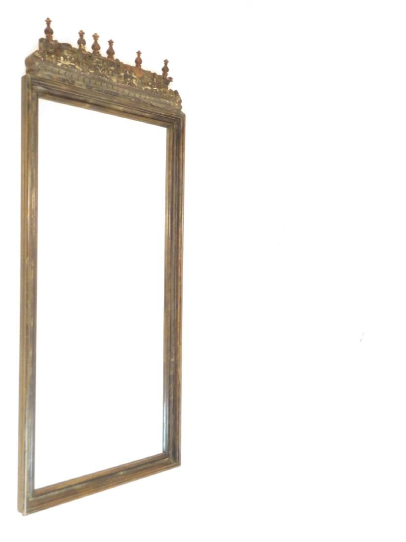 ANTIQUE INDO-ASIAN CARVED WOOD WALL MIRROR