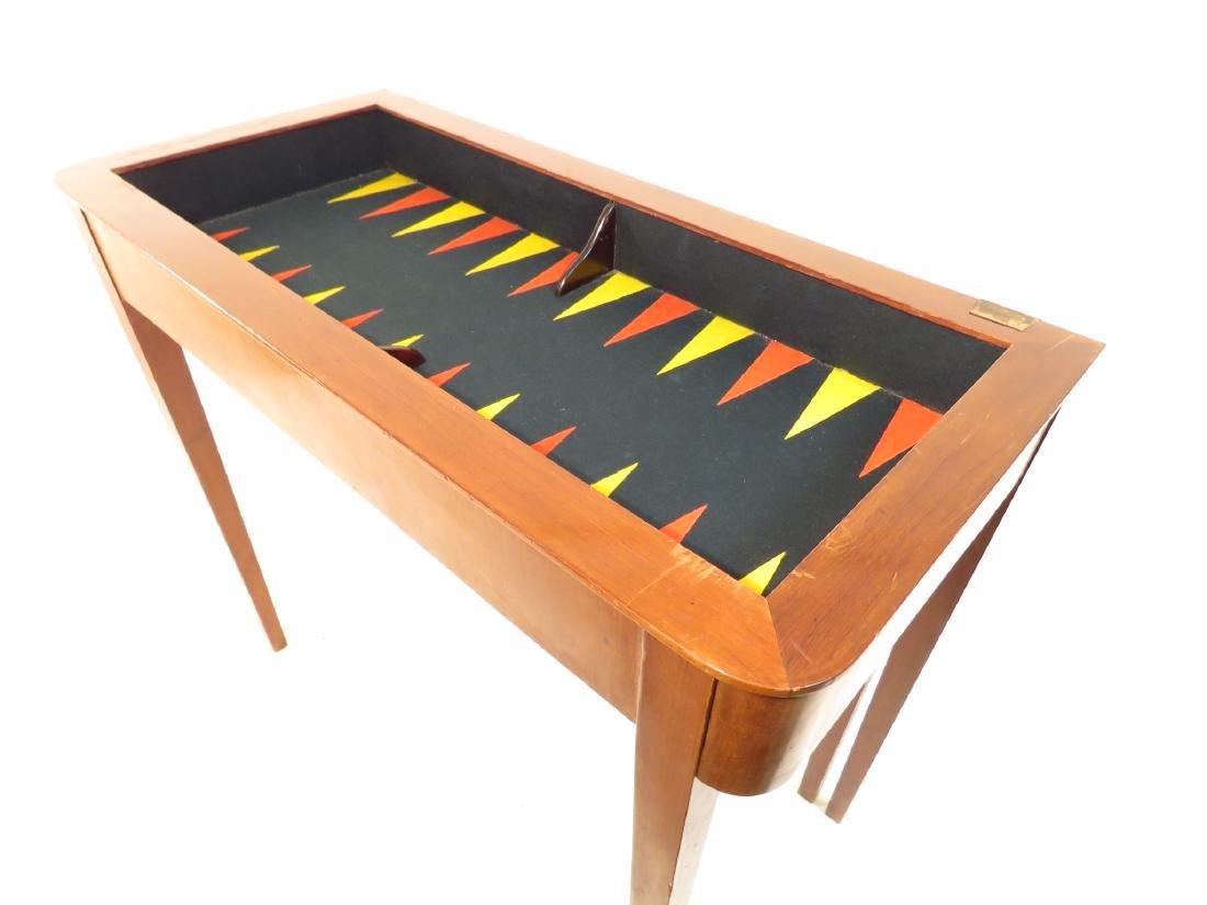 VINTAGE MAHOGANY GAME TABLE - 4