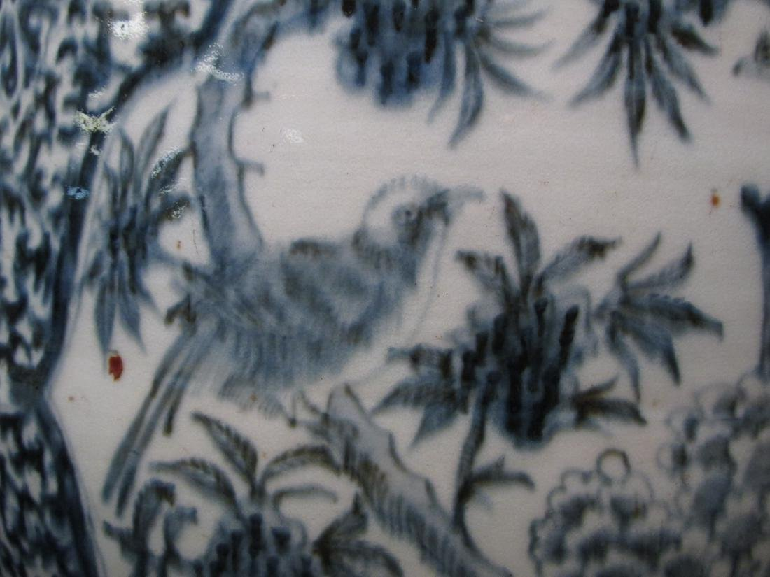 CHINESE QING DYNASTY BLUE & WHITE GARDEN STOOL - 3