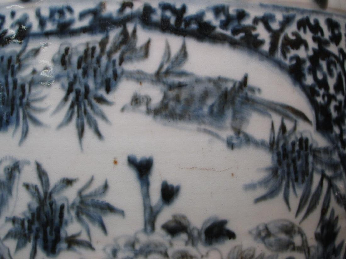 CHINESE QING DYNASTY BLUE & WHITE GARDEN STOOL - 4